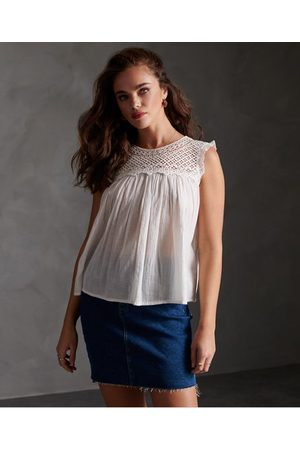 Superdry Ellison Textured Lace Vest Top