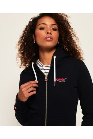 Superdry Women Hoodies - Orange Label Zip Hoodie
