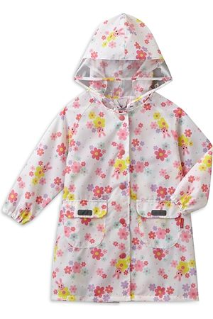 Miki House Girls' Floral Print Raincoat - Big Kid