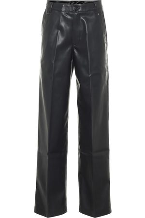 Rick Owens DRKSHDW high-rise faux leather pants