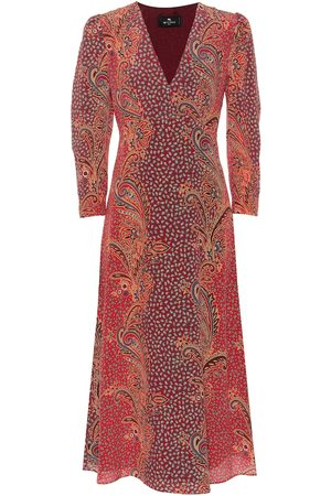 Etro Paisley silk midi dress