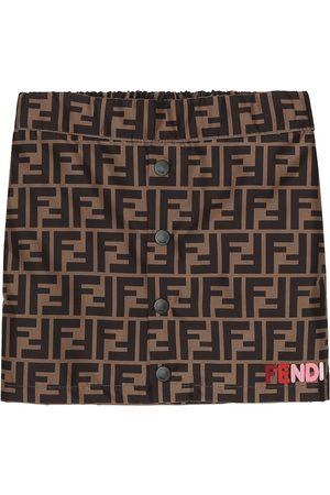 Fendi FF cotton jersey skirt