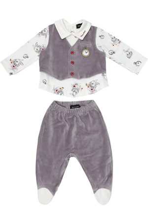 MONNALISA X Disney® Baby cotton top and pants set