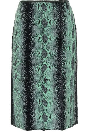 DRIES VAN NOTEN Snake print pencil skirt
