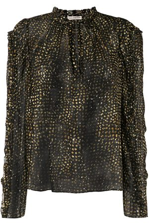 ULLA JOHNSON Long-sleeve ruffle blouse