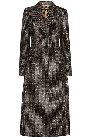 Dolce & Gabbana Women Coats - Single-breasted houndstooth coat