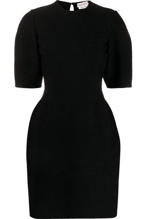 Alexander McQueen Textured half-sleeve mini dress