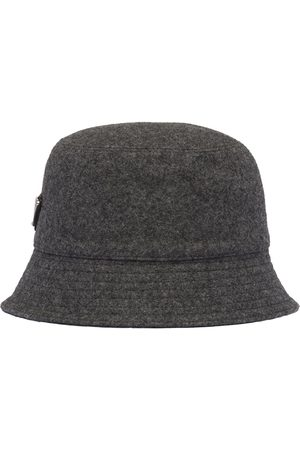 Prada Loden rain hat - Grey