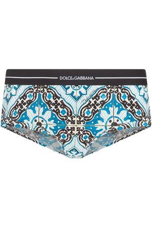 Dolce & Gabbana Maiolica-print cotton briefs