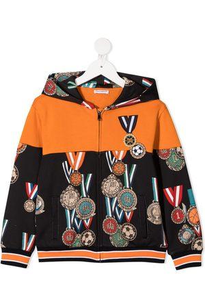 Dolce & Gabbana Medal zip-up hoodie