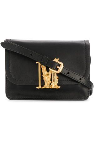 Moschino Monogram plaque shoulder bag