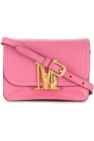 Moschino Women Shoulder Bags - Monogram plaque shoulder bag