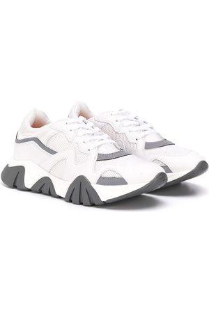 VERSACE TEEN colour-block sneakers