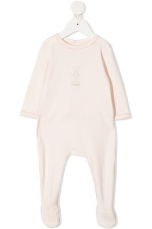 Chloé Embroidered logo cotton pajama - Neutrals