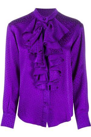 AMI Paris Women Shirts - Polka dot ruffle shirt