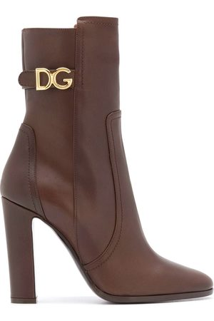 Dolce & Gabbana Logo-plaque 110mm calf-length boots