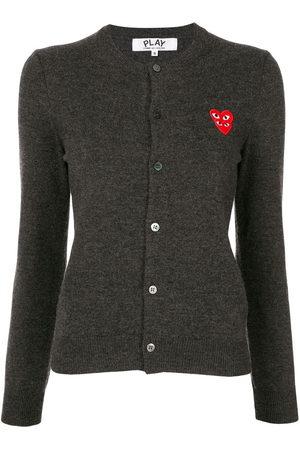 Comme des Garçons Logo-embellished cardigan - Grey