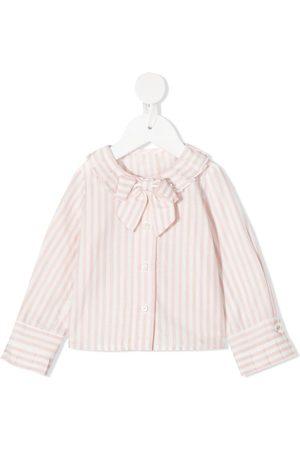 Lapin House Shirts - Striped bow shirt