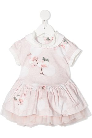 Lapin House Baby Printed Dresses - All-over floral print knit dress