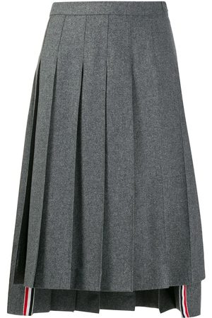 Thom Browne Dropped back pleated skirt - Grey