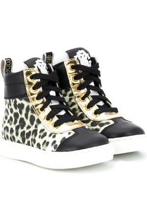 Roberto Cavalli Leopard-print lace-up sneakers - Neutrals