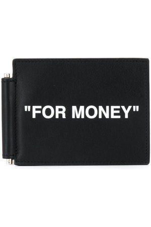 OFF-WHITE Slogan-print note-holder