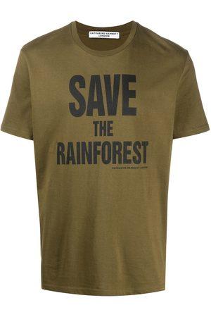 KATHARINE HAMNETT LONDON Slogan print T-shirt