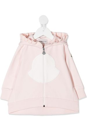 Moncler Coats - Ruffle trim zipped jacket