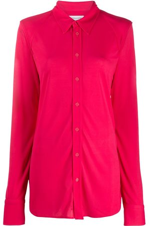 Bottega Veneta Women Shirts - Semi-sheer button-up shirt