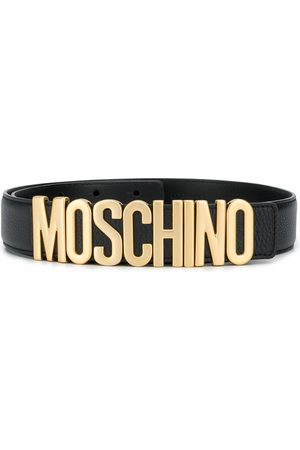 Moschino Men Belts - Logo-plaque belt