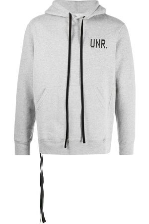 Unravel Project Logo print hoodie - Grey