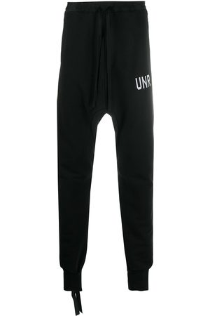 Unravel Project Men Sweatpants - Drop-crotch track pants