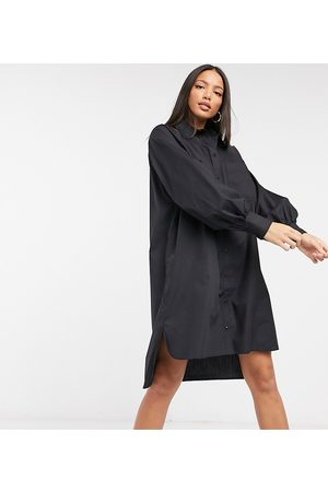 ASOS ASOS DESIGN Tall cotton poplin oversized boyfriend mini shirt dress in