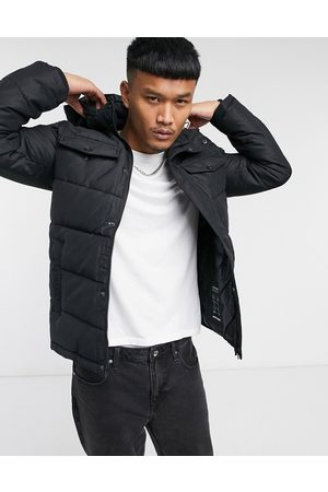 Jack & Jones Originals puffer with hood & pockets in