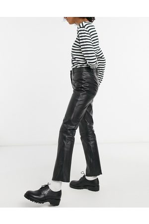 Muubaa High-waist slim leather pants in