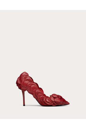 VALENTINO GARAVANI Atelier Shoe Kidskin Pump With Petals 100 Mm Women Rosso Valentino Lambskin 100% 35