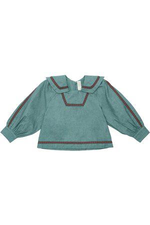 TIA CIBANI Cotton Flannel Sailor Top