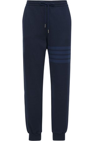 Thom Browne Tonal 4 Bar Cotton Sweatpants