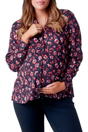 Nom Maternity Women's Marjorie Maternity/nursing Boyfriend Shirt