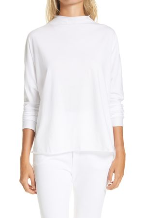 FRANK & EILEEN Women's Funnel Neck T-Shirt