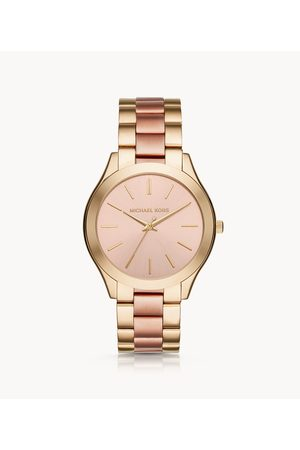 Michael Kors Women's Slim Runway Three-Hand Two-Tone Stainless Steel Watch