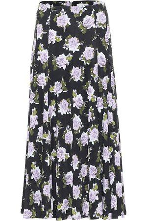 Erdem Vesper floral jersey midi skirt