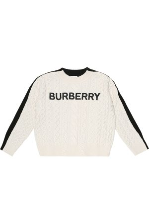 Burberry Logo embroidered wool-blend sweater