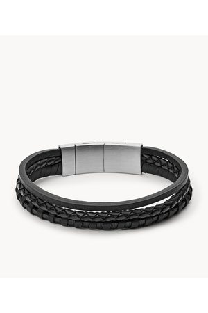 Fossil Men's Multi-Strand Braided Leather Bracelet