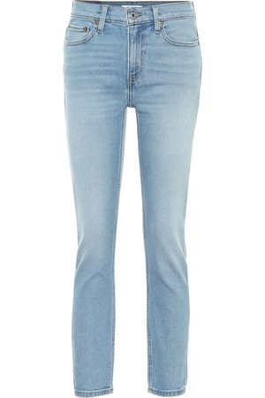 RE/DONE Mid-rise cropped skinny jeans