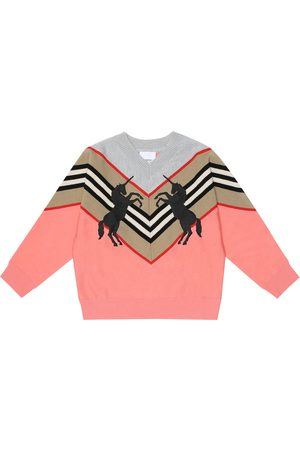 Burberry Embroidered wool-blend sweater