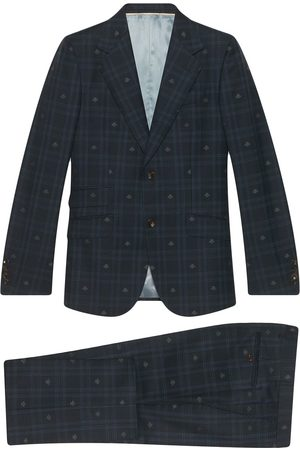 Gucci Heritage Bee checked suit