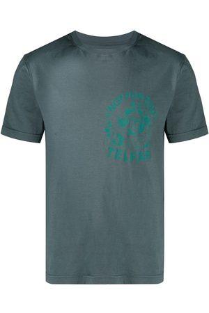 TELFAR Not For You-print cotton T-shirt - Grey