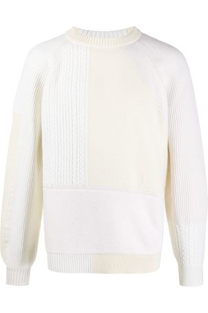 Barrie Panelled ribbed jumper