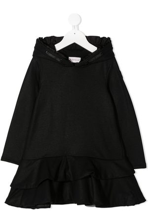Moncler Hooded ruffle detail dress